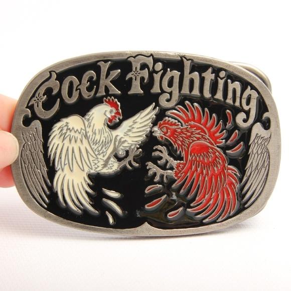 Cock Fighting Belt Buckle Vintage Fashion Designer Belts Buckles